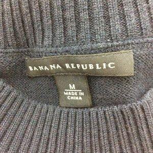 Banana Republic Sweaters - Banana Republic Pullover Half Sleeve Navy Sweater